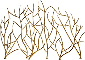 My Swanky Home Golden Branches Fireplace Screen | Iron Twig Metal Decorative Firescreen