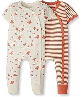 Moon and Back de Hanna Andersson - Pijama de una pieza sin pies hecho de algodón orgánico para bebé: Amazon.es: Ropa y accesorios