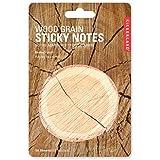 Kikkerland Wood Grain Sticky Notes