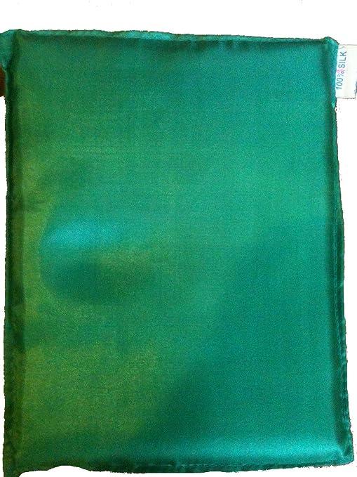 Comercio justo vietnamita de near-100% Pura Seda Saco de dormir Liner (Verde