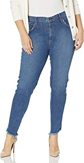 product image for James Jeans Women's Plus Size High Rise Skinny Jean in Drifter