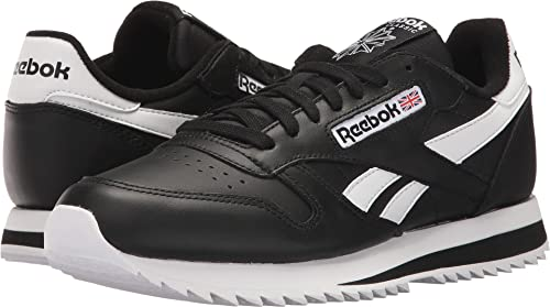 7b6670d9eac06 Reebok Lifestyle Men s Classic Leather Ripple Low BP Black White 2 5 ...
