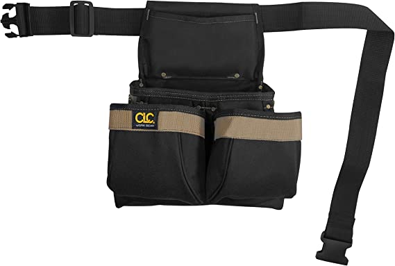 5-Pocket Poly CLC PK1836 Framer/'s Nail and Tool Bag with Poly Web Belt