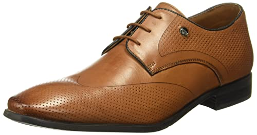 1196111e649 Hush Puppies Men s New Fred Laser Derby Tan Formal Shoes - 8 UK India (