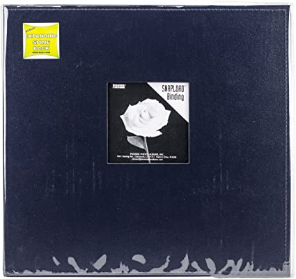 Black Pioneer 12 Inch by 12 Inch Snapload Sewn Leatherette Frame Cover Memory Book