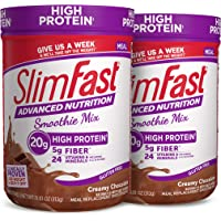 SlimFast Advanced Nutrition Creamy Chocolate Smoothie Mix – Weight Loss Meal Replacement – 20g Protein – 11.01 Oz…