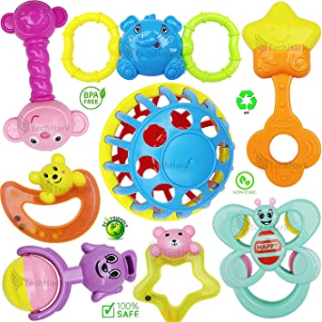 First Years shaped and  1-5  Classic Keys Rattle Teething  baby toddler Toy