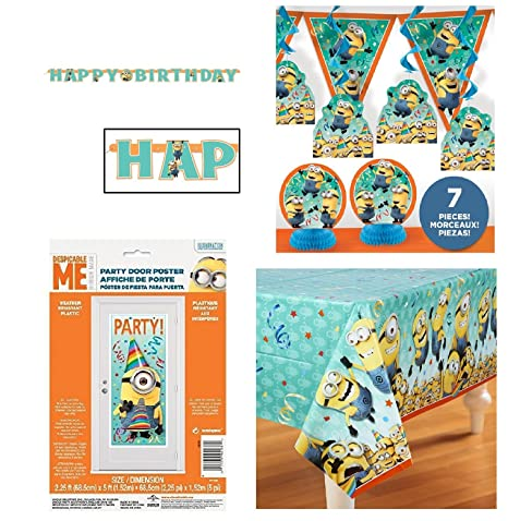 Amazon Despicable Me Minion Birthday Pack Table Cover Wall
