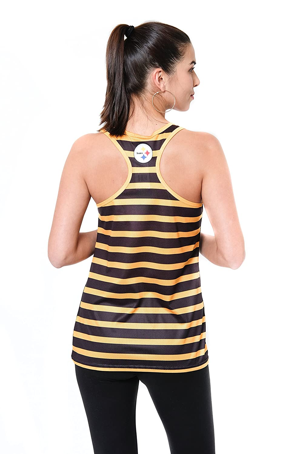 X-Large Team Color NFL Pittsburgh Steelers Ultra Game Womens MESH RACERBACK TANK