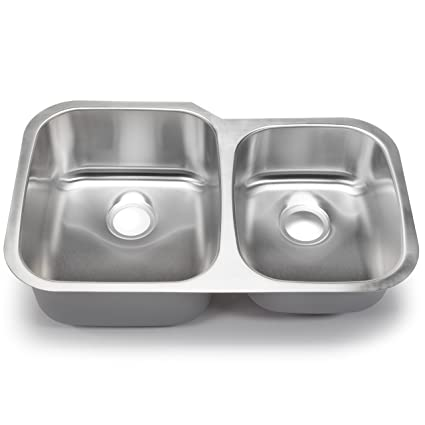 Hahn Chef Series SS004 32-Inch Undermount 60/40 Double Bowl ...