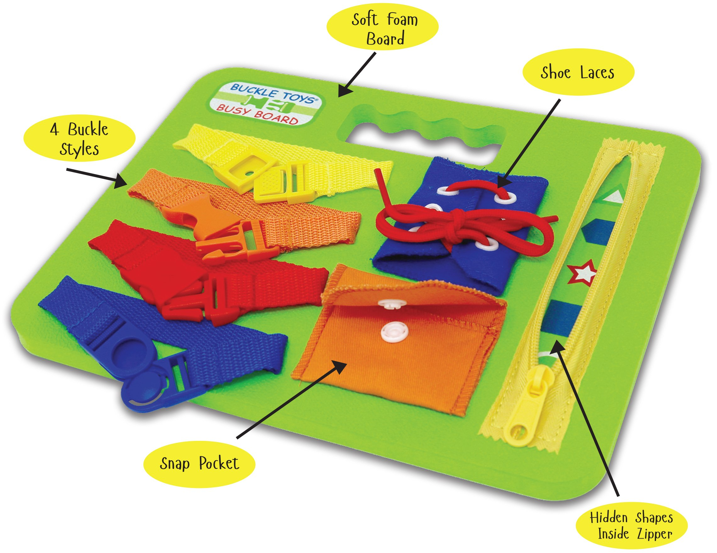 Buckle Toys - Busy Board by Buckle Toys