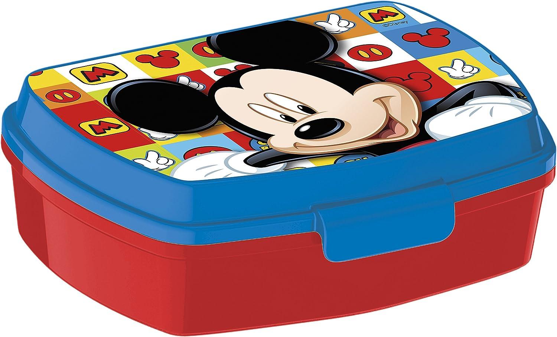 ALMACENESADAN, 0434, Sandwichera Rectangular Multicolor Disney Mickey Mouse, 15x10x5,5 cms
