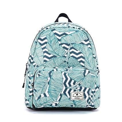 ce8e04fe1b6a ESVAN Cute Backpacks Original Floral Leaf Girls sackpack Travel Daypack  School Backpack