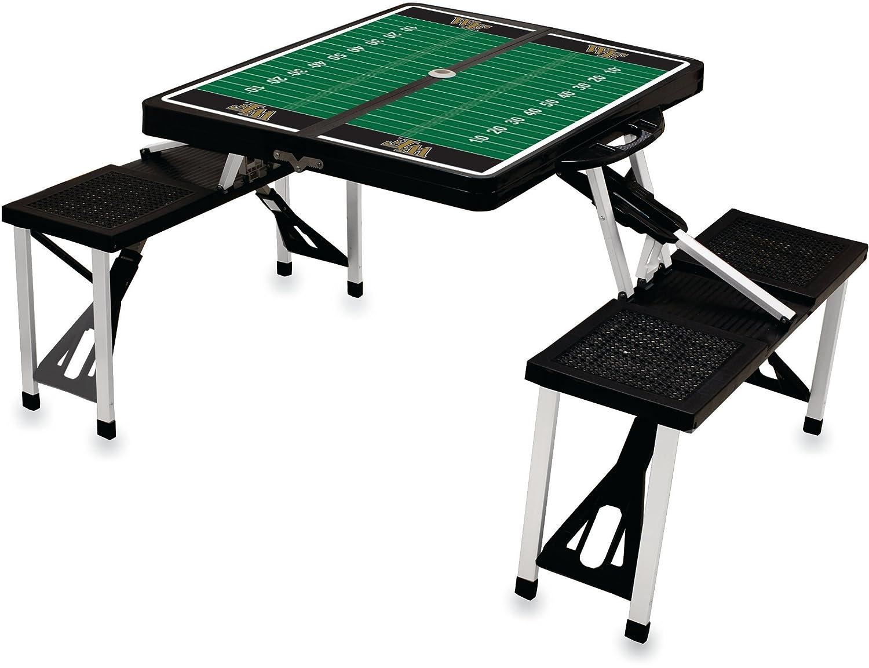 NCAA Wake Forest Demonデジタル印刷ピクニックテーブルスポーツ、ブラック、1サイズ B004OHV89M