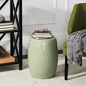 Safavieh Lotus Ceramic Decorative Garden Stool, Light Green
