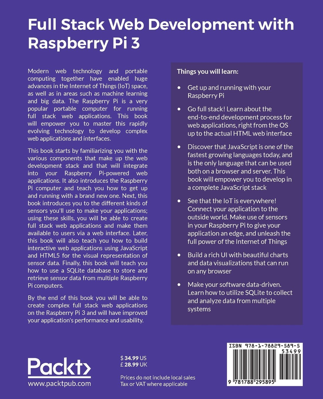 Full Stack Web Development with Raspberry Pi 3: Build complex web