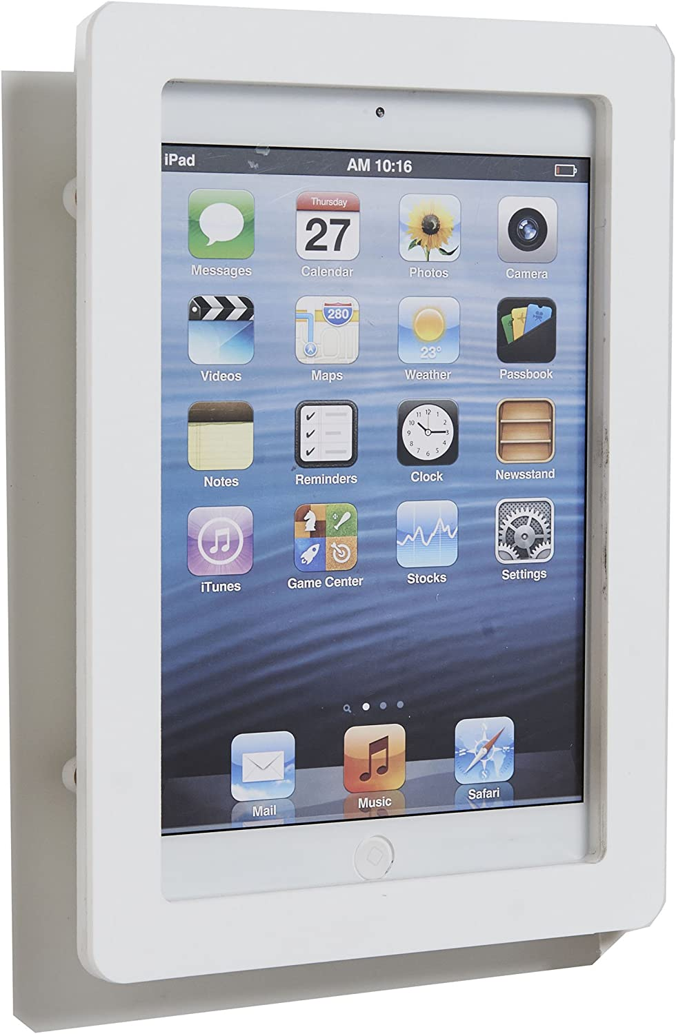 POS IN CLOUD TABcare White Acrylic Security Anti-Theft VESA Enclosure for iPad Mini 1/2/3 with Wall Mount Kit