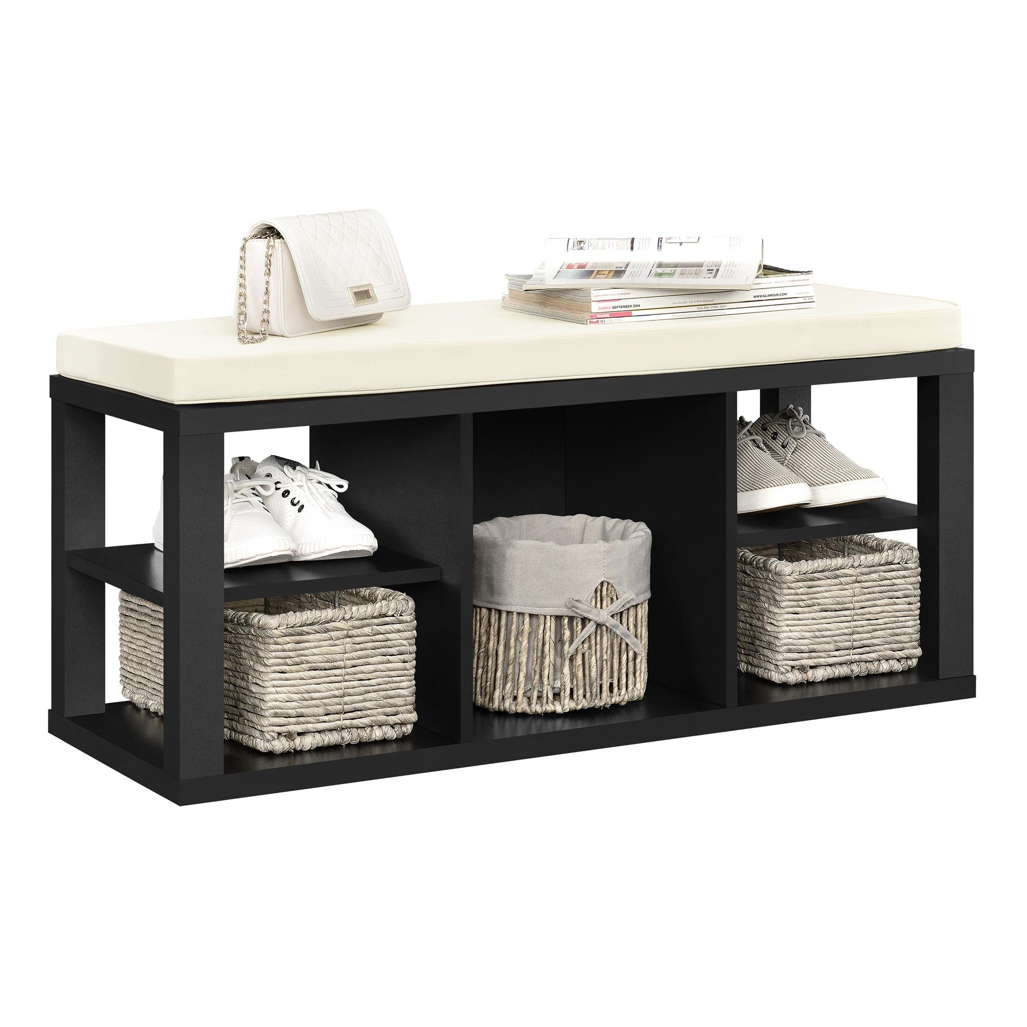 Ameriwood Home Parsons Storage Bench, Black by Ameriwood Home (Image #2)