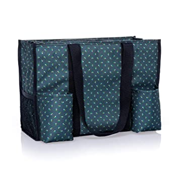 Amazoncom Thirty One Zip Top Organizing Utility Tote 4451 In Dot