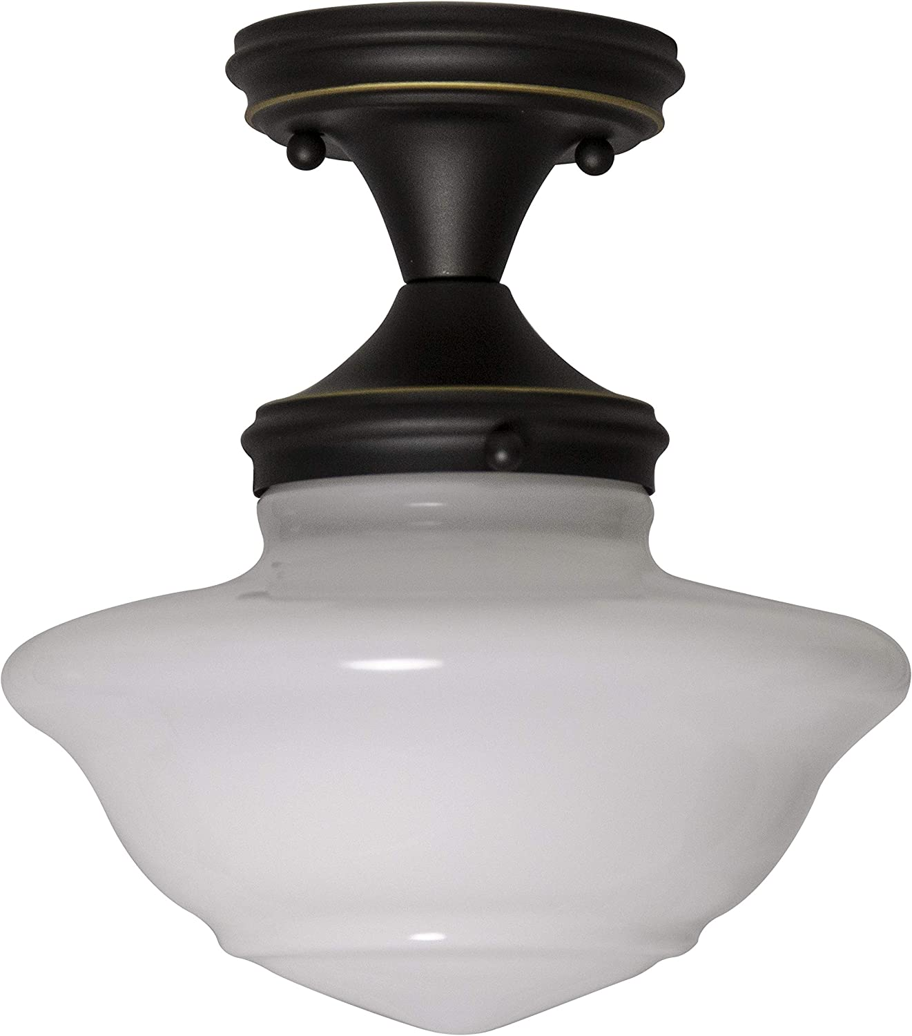 Shop Schoolhouse Modern Industrial Farmhouse Indoor Dimmable Light from Amazon on Openhaus