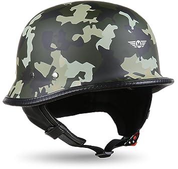 Moto Helmets D33 Juego de – braincap piel wehrmachts Casco de acero mitad de cuencos de