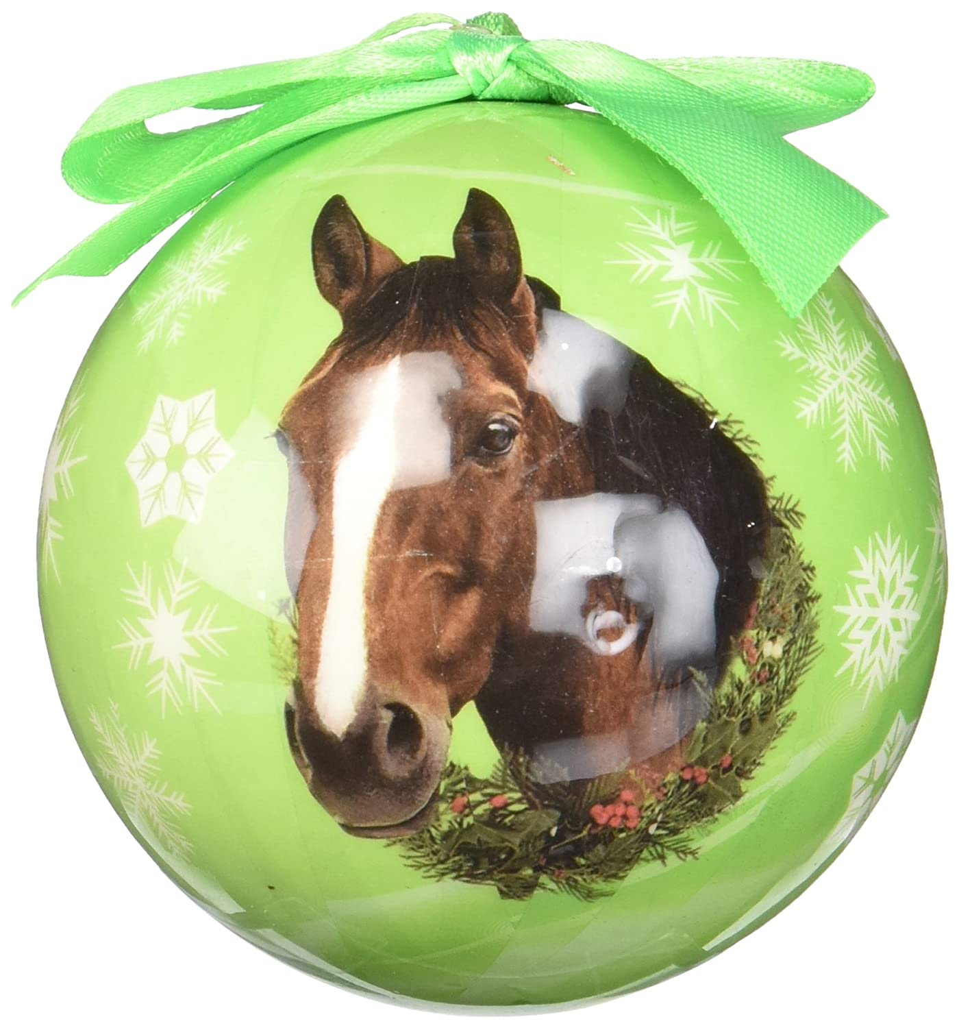 Amazoncom Horse Christmas Ornament Shatter Proof Ball Easy To