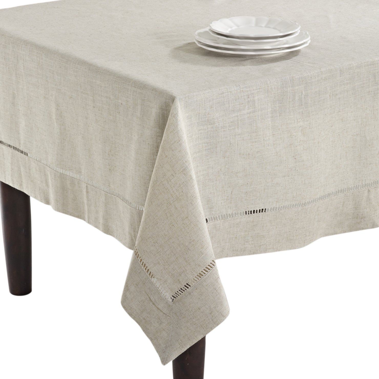 SARO LIFESTYLE 731 Toscana Tablecloths, 65 by 180-Inch, Oblong, Natural