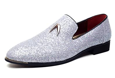 4c093a9053 CMM Men's Comfort Slip On Loafers Leather Lined Loafers Shoes Party Dress  Size 6.5 White