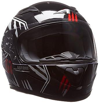 Astone GT2KG-PREDATOR-BWM - Casco moto Integral para niños, Negro/Blanco