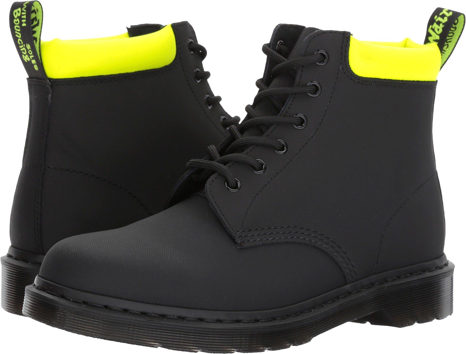 Dr. Martens R22869001 Men's 939 Boot, Black Ajax/Neon Yellow Pu - 9 UK/10 D(M) US