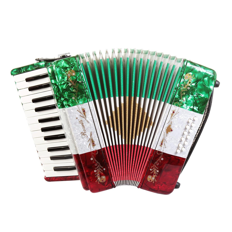 Rossetti principiante Piano acordeón 12 graves 25 teclas de ...