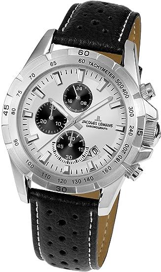 Jacques Lemans Liverpool – Reloj de pulsera analógico de cuarzo piel 1 – 1826b