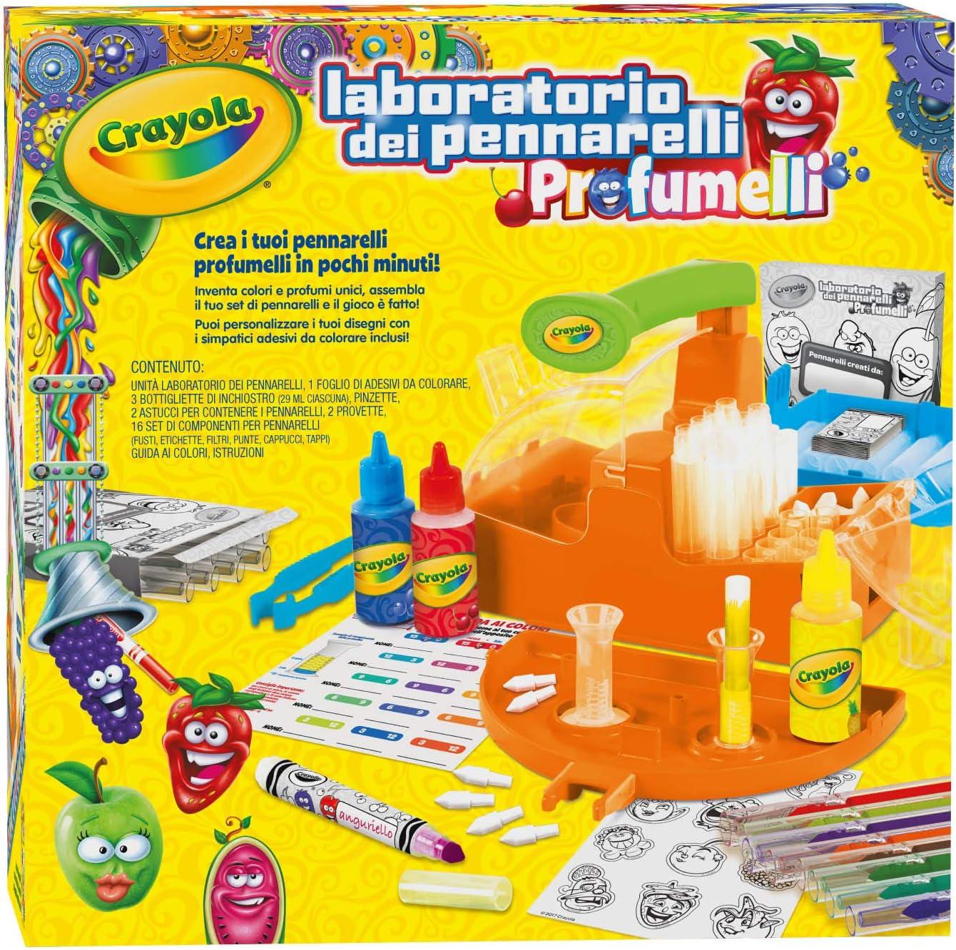 Crayola Laboratorio dei Pennarelli Profumelli, per Creare i Tuoi pennarelli profumati.
