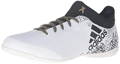 online retailer cb520 8db63 adidas Men s X 16.3 Court Soccer Shoe, White Black Metallic Gold, 7