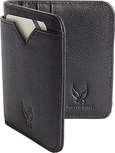 Handmade Genuine Leather Men/'s Small Collapsible Wallets Bifold Purse