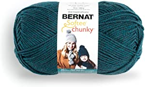 Bernat Big Ball Chunky Solid Yarn, 14 oz, Gauge 6 Super Bulky, 100% Acrylic, Teal