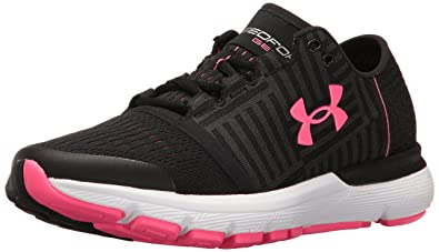 Under Armour Women s Speedform Gemini 3 Running Shoe - Color  Black Cerise  (Regular 65087e246