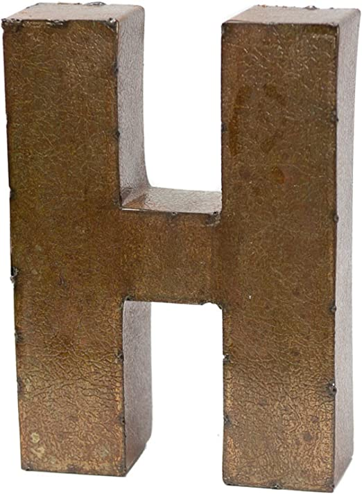"""Cast Iron Industrial LETTER F Sign Rustic Brown 5"""" tall ..."""