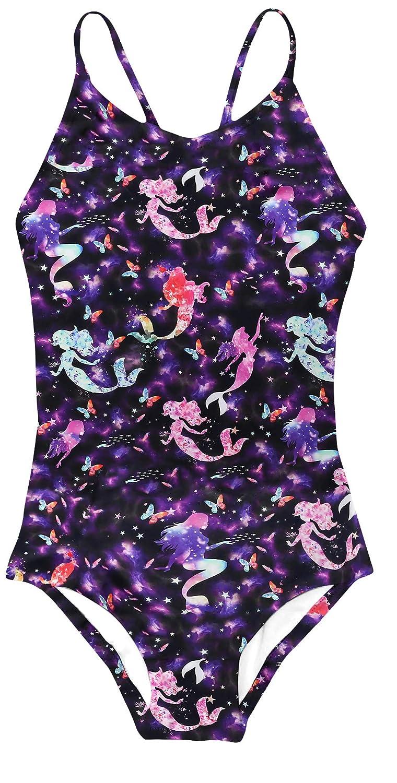 Goodstoworld Girls One-Piece Swimwear 3-10 Years Elasticity Bandage Novelty Bathing Suit