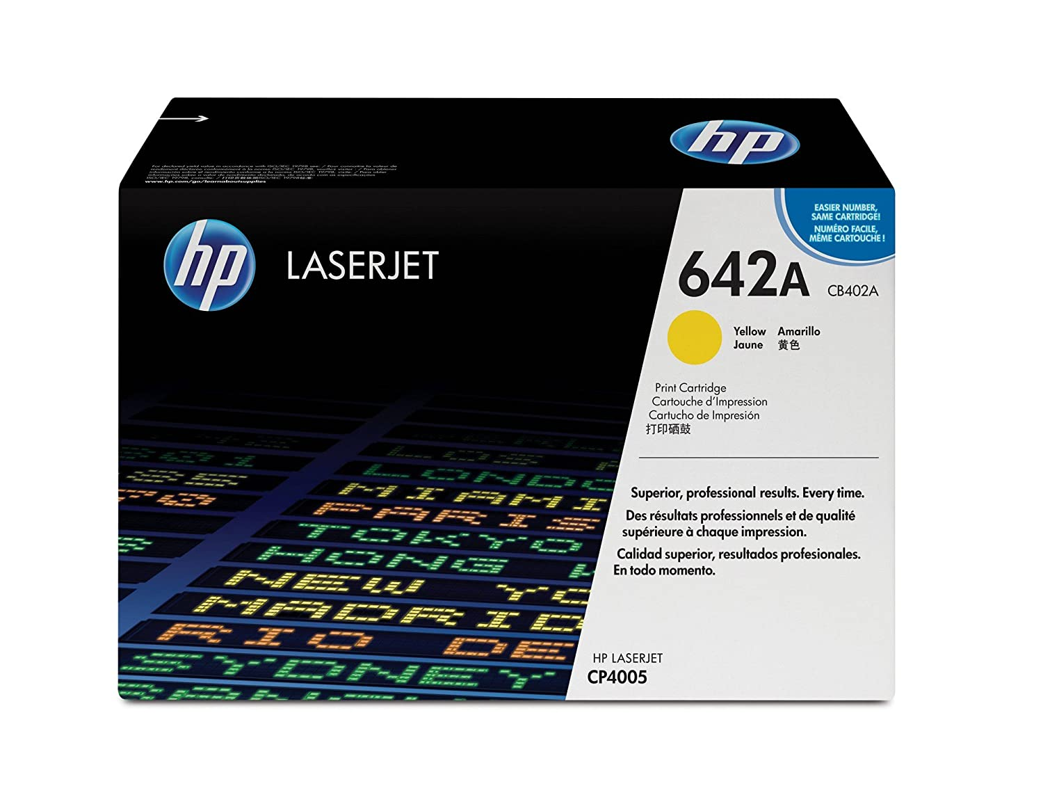 HP 642A (CB402A) LaserJet Yellow Toner Cartri..