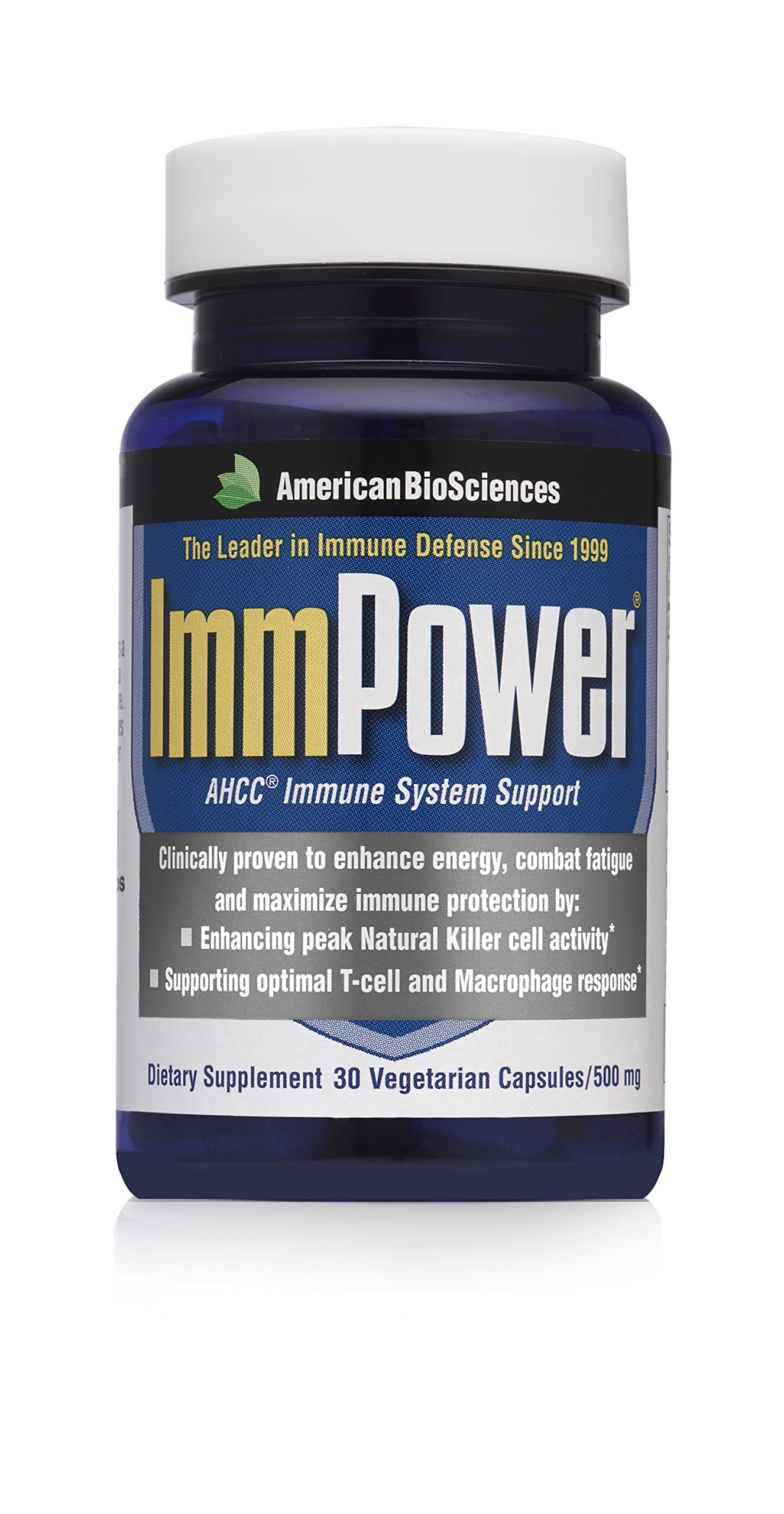 American BioSciences ImmPower AHCC Supplement 2-Pack, Enhanced Immune Support, Natural Killer Cell Activity and Cytokine Production, 30 Vegetarian Capsules, 500 milligrams per Capsule by American BioSciences