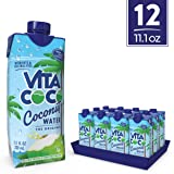 Vita Coco Coconut Water, Pure - Naturally Hydrating Electrolyte Drink - Smart Alternative to Coffee, Soda, and Sports Drinks - Gluten Free - 11.1 Ounce