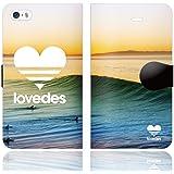 [iPhoneSE 5S 5 兼用 手帳型 ケース カバー] LOVEDES ハワイアン H