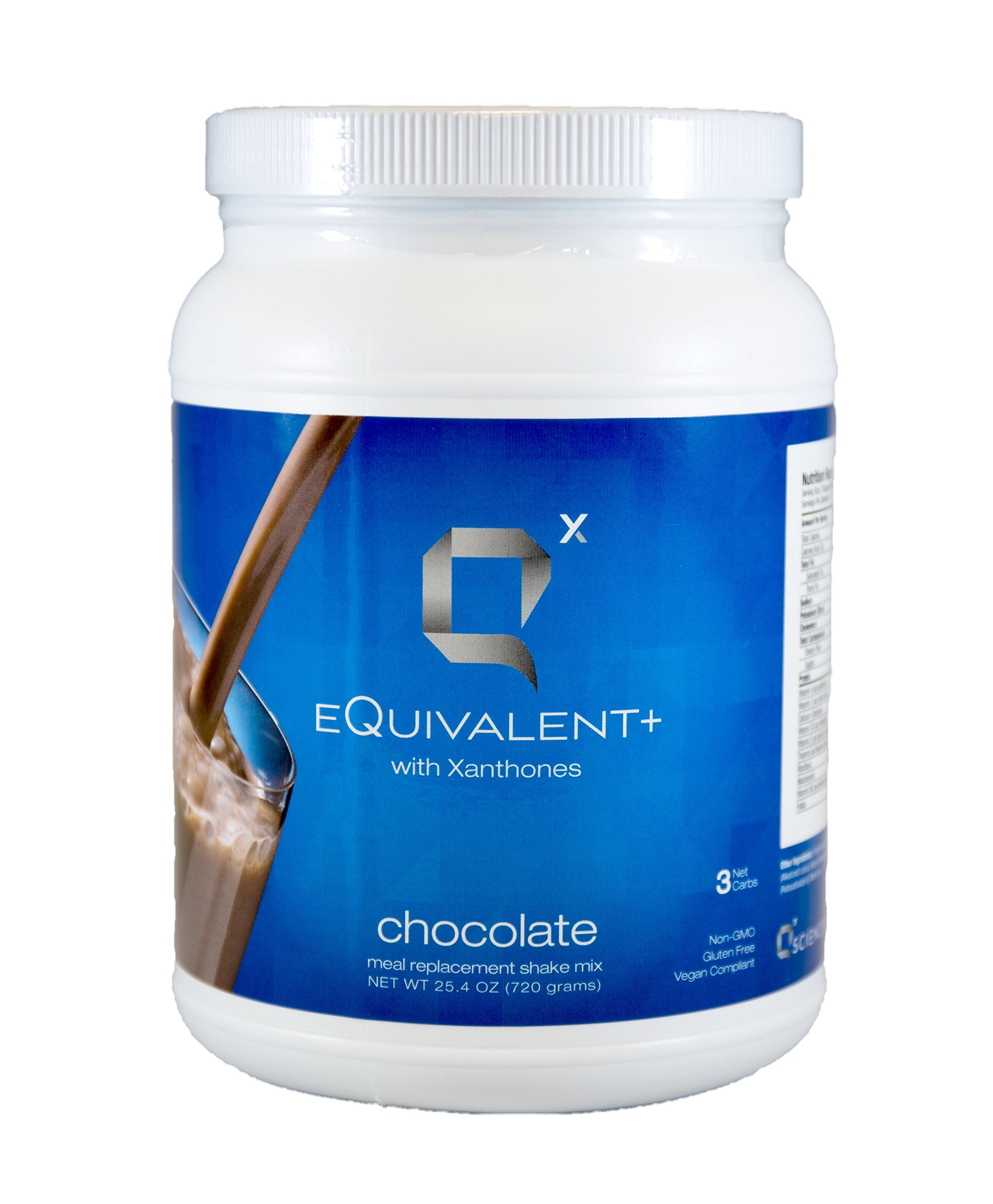eQuivalent+ w/ Xanthones: Q Sciences Meal Replacement Shake | Protein Shake w/ Enzymes & Antioxidants | Weight Loss Shake | Blood Sugar Regulation | Dietary Supplement Meal Replacement Powder 25oz