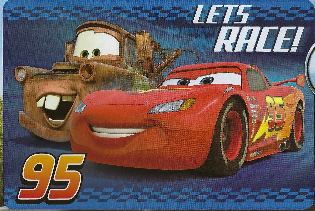 Disney Cars Large Disney 54x80 Extra Soft Non-Slip Back Area Rug