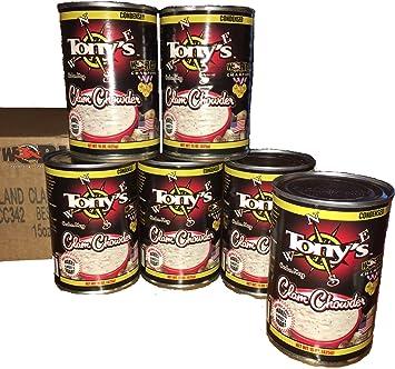 amazon com tony s clam chowder 3x world champion 15oz ounce