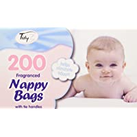 Fragranced Disposable Baby Nappy Bags With Tie Handles