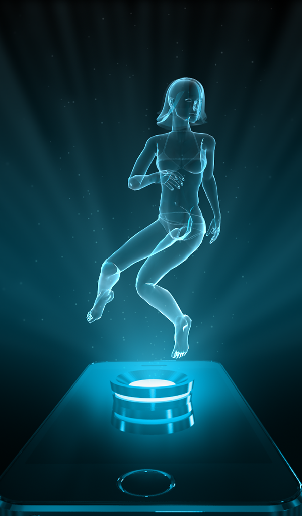 Amazon Com Hologram Girl Projector Appstore For Android