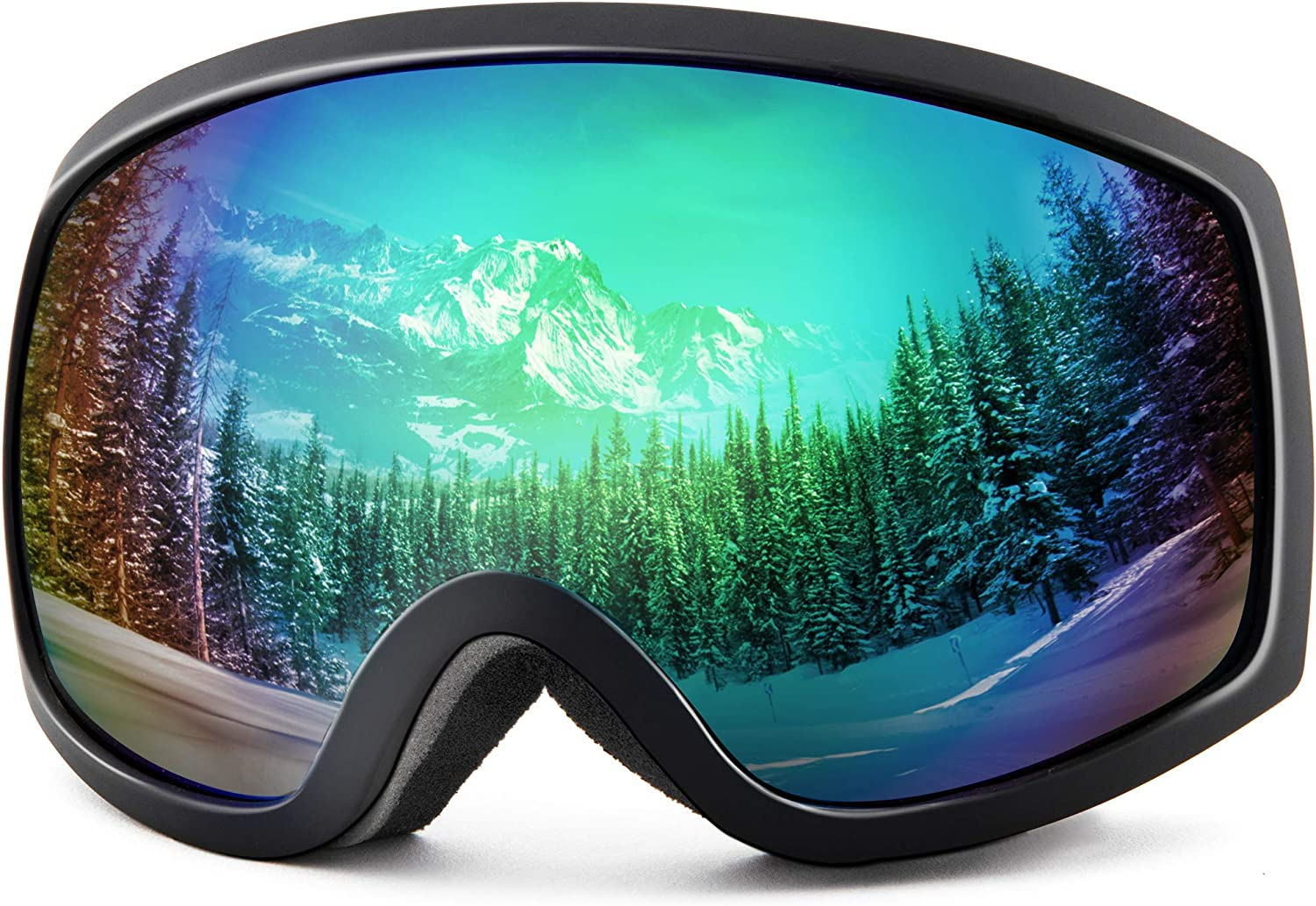 Frameless Cylindrical Lens 100/% UV400 Protection Anti-Fog Helmet Compatible and Anti-glare Snow Goggles for Men /& Women REDSTORM Ski Goggles