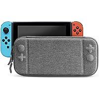 Timotech Funda para Nintendo Switch Color Gris Ultra Delgada. Estuche/Case Protector de Tela Oxford para Nintendo Switch